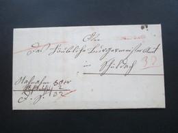 Vorphila 1847 Baden Roter Stempel L1 Faltbrief Mit Inhalt!! Amtsbrief Mit Erlass Bestrafung Der Bettler - [1] ...-1849 Precursores