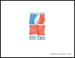 France - N°1859 Relations Franco Soviétiques Drapeau (flag) France Urss Russia Russie épreuve De Luxe (deluxe Proof) - Pruebas De Lujo