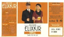 Etiquette De Bière ELIXKIR - TRIPLE - Sans Foi Ni Loi - Cote D'Or - 21 - Bière