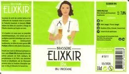 Etiquette De Bière ELIXKIR - IPA - IBU PROFANE - Cote D'Or - 21 - Bière