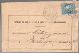 Lettre France N° 44 Cérès Voir Repport Gare De Monchard Ambulant BESxx - Storia Postale