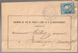 Lettre France N° 44 Cérès Voir Repport Gare De Monchard Ambulant BESxx - Poststempel (Briefe)