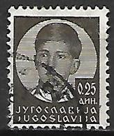 YOUGOSLAVIE   -    1935.   Y&T N° 277 Oblitéré.  Effigie De Pierre II. - 1931-1941 Royaume De Yougoslavie