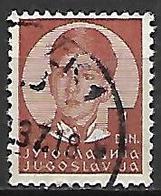 YOUGOSLAVIE   -    1935.   Y&T N° 280 Oblitéré.  Effigie De Pierre II. - 1931-1941 Royaume De Yougoslavie