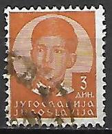 YOUGOSLAVIE   -    1935.   Y&T N° 283 Oblitéré.  Effigie De Pierre II. - 1931-1941 Royaume De Yougoslavie