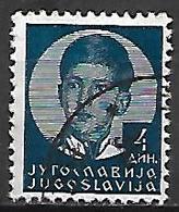 YOUGOSLAVIE   -    1935.   Y&T N° 285A Oblitéré.  Effigie De Pierre II. - 1931-1941 Royaume De Yougoslavie