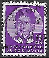 YOUGOSLAVIE   -    1935.   Y&T N° 286 Oblitéré.  Effigie De Pierre II. - 1931-1941 Royaume De Yougoslavie