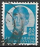 YOUGOSLAVIE   -    1935.   Y&T N° 288 Oblitéré.  Effigie De Pierre II. - 1931-1941 Royaume De Yougoslavie