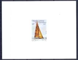 Nouvelle Calédonie épreuve De Luxe / Deluxe Proof N° 532 Sport Nautique Coupe De L'américa French Kiss - Imperforates, Proofs & Errors
