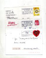 Lettre Flamme Le Touquet Fleur Jardin - Marcophilie (Lettres)