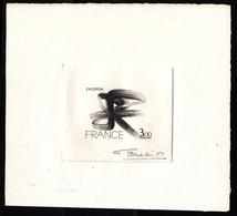 FRANCE - N°1951 - EXCOFFON (1910-1983) OEUVRE ORIGINALE - Epreuve D'artiste Noire Signée Bétemps. - Künstlerentwürfe