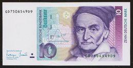 10 DM Deutsche Mark 1993 UNC Kassenfrisch - 10 Deutsche Mark