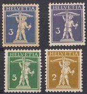 HELVETIA - SUISSE - SVIZZERA - Lotto Di 4 Valori Nuovi: Yvert 134/136 MH E 241 MNH. - Nuovi
