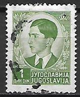YOUGOSLAVIE   -    1939.   Y&T N° 359 Oblitéré.    Roi Pierre II - 1931-1941 Royaume De Yougoslavie