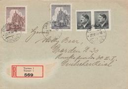 Bohême Et Moravie Lettre Recommandée Turnau 1944 - Bohême & Moravie