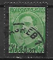 YOUGOSLAVIE   -    1934.   Y&T N° 264 Oblitéré.   Mort Du Roi Alexandre 1er - 1931-1941 Royaume De Yougoslavie