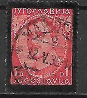 YOUGOSLAVIE   -    1934.   Y&T N° 266 Oblitéré.   Mort Du Roi Alexandre 1er - 1931-1941 Royaume De Yougoslavie