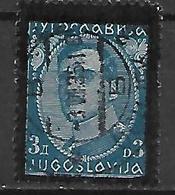 YOUGOSLAVIE   -    1934.   Y&T N° 269 Oblitéré.   Mort Du Roi Alexandre 1er - 1931-1941 Royaume De Yougoslavie