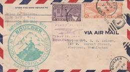 Etats Unis Lettre Aviation 1938 - Postal History