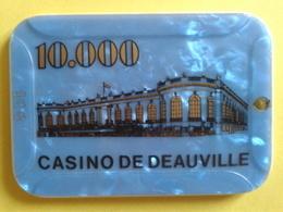 Plaque De 10.000 CASINO DE DEAUVILLE. N° De Série 108 - Casino