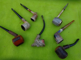 Lot De  Pipes  Matiere A Identifier -6- - Pipes & Accessoires