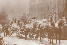 1894 Victorian Western Stagecoach The Old West Cowboy Postcard - Postcards