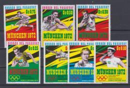 Paraguay 1972 Olympic Games München 7 Vals. MNH/**  (H55) - Ete 1972: Munich
