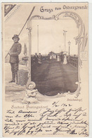 Gruss Vom Ostseestrande - Seebad Heringsdorf - 1902     (A-92-180613) - Germania