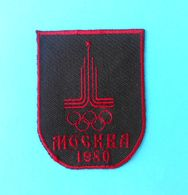 SUMMER OLYMPIC GAMES 1980. MOSCOW (Russia) Original Vintage Patch * Jeux Olympiques Olympia Olympiade Olimpici Olimpiadi - Apparel, Souvenirs & Other