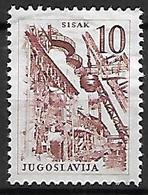 YOUGOSLAVIE   -    1961.   Y&T N° 854 Oblitéré.   Aciérie à Sisak - Oblitérés