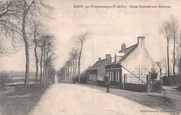 CLETY, PAR FAUQUEMBERGUE - ROUTE NATIONALE VERS BIENTQUES ~ AN OLD POSTCARD #94359 - Fauquembergues