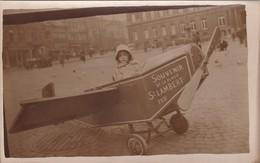 Photo Carte Snapshot Petit Avion Liège 1931 - Photographs