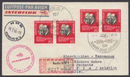 1120, MeF Mit 2 Werten, R-Luftpost Nach Bulgarien, Ankunft, 1965 - [6] Democratic Republic