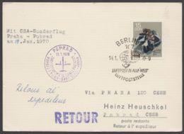 1470, EF Auf Luftpostkarte In Die CSSR - DDR