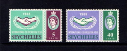 SEYCHELLES    1965    I C Y    Set  Of  2    MH - St.Kitts And Nevis ( 1983-...)
