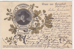 Gruss Aus Bergerhof - Fahrradwerke Bismarck GmbH - 1900    (A-92-180613) - Publicité