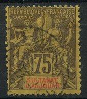 Anjouan (1892) N 12 (o) - Gebruikt