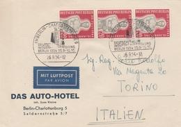 Berlin Lettre Berlin-Charlottenburg Pour L'Italie 1954 - Cartas