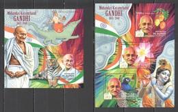 BC062 2012 GUINEE GUINEA FAMOUS PEOPLE MAHATMA GANDHI 1KB+1BL MNH - Mahatma Gandhi