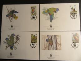 ST. LUCIA - 1987 - WWF - PROTEZIONE DEGLI UCCELLI - BIRDS - FDC - St.Lucia (1979-...)