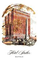 Buffalo New York N.Y. - Hotel Statler - Delaware Avenue At Niagara Square - A Hilton Hotel -  Unused - 2 Scans - Buffalo