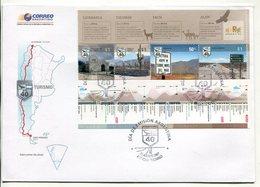 ARGENTINA - TURISMO, RUTA 40 NORTE, CATAMARCA, TUCUMAN, SALTA, JUJUY. AÑO 2007 SOBRE PRIMER DIA ENVELOPE FDC - LILHU - Vacaciones & Turismo