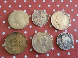 LOT 6 PIÈCES Voir Le Scan - Coins & Banknotes