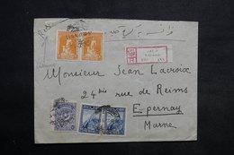 TURQUIE - Enveloppe En Recommandé De Trébizonde Pour La France En 1927 , Affranchissement Plaisant - L 34036 - Lettres & Documents