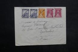 TURQUIE - Enveloppe Pour La France En 1929 , Affranchissement Plaisant , Annulation En Croix - L 34037 - Lettres & Documents