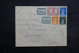 TURQUIE - Enveloppe Pour La France En 1921 , Affranchissement Plaisant - L 34038 - Lettres & Documents