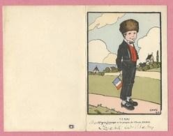 Carte Double - Menu - HANSI - JJ WALTZ - Petit Alsacien - YERRI - Editeur P.J. Gallais - Paris - 4 Scans - Hansi