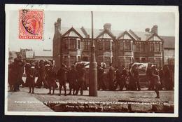 FALKLAND (Iles) Colonie Anglaise. Timbre N° 27 Obl Port Stanley En 1914. RARE Carte Photo Sur Les Funérailles .......... - Territoire Antarctique Britannique  (BAT)