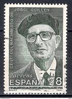 Spain 1993 - The 100th Anniversary Of Jorge Guillen, 1893-1984 - 1931-Hoy: 2ª República - ... Juan Carlos I
