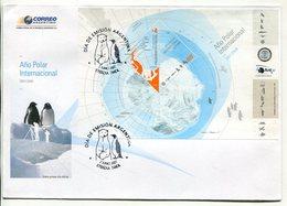 ARGENTINA - AÑO POLAR INTERNACIONAL, OCEFANO ATLANTICO SUR, POLO SUR. AÑO 2007 SOBRE PRIMER DIA ENVELOPE FDC - LILHU - Año Polar Internacional